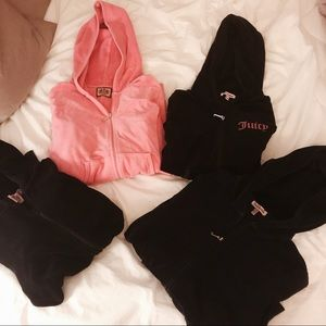 4 Juicy Couture Velour Track Jackets